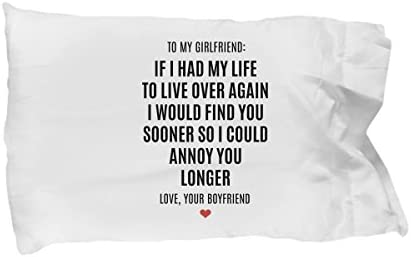 To My Girlfriend Pillow Case Over