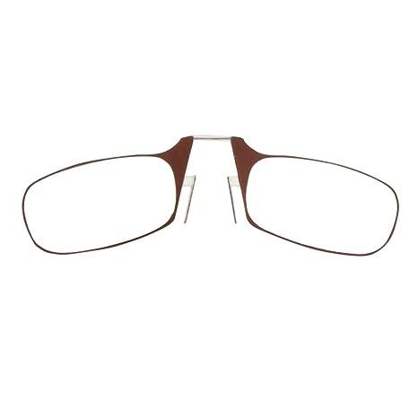 GOTTING Solido Mini Stringinaso Ottica occhiali da lettura portatili occhiali da presbite Anziani Eyewear con il caso Red & 2,50