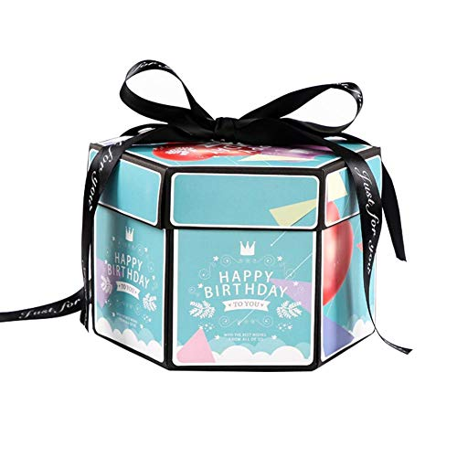 DREAMALVA Box Scrapbook, Box Hexagonal Multi-Layer Finished Product Surprise Confession DIY Album for Wedding/Engagement/Anniversary/Birthday Boyfriend Girlfriends Gifts