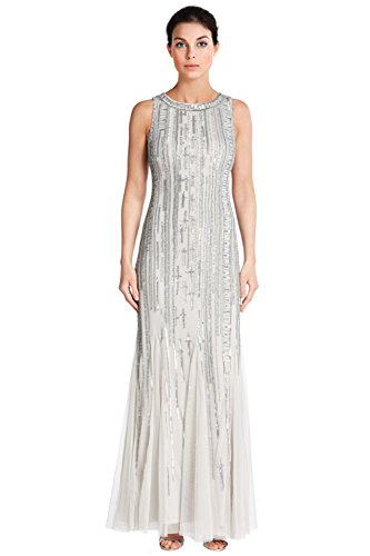 Aidan Mattox Sleeveless Bead Embellished Evening Gown Dress