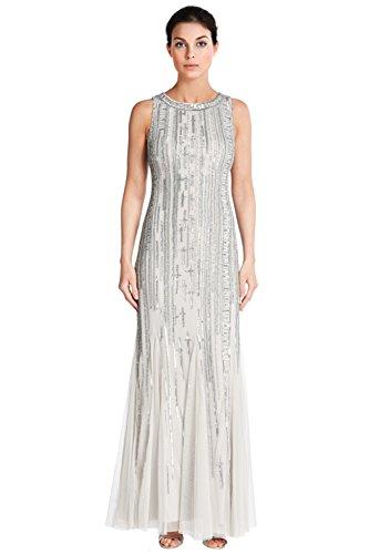 Aidan Mattox Sleeveless Bead Embellished Evening Gown Dress