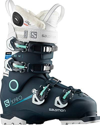 80 Womens Alpine Ski Boot - Salomon X-Pro 80 CHC Womens Ski Boots 2019-25.5/Petrol Blue-White-Aruba Blue