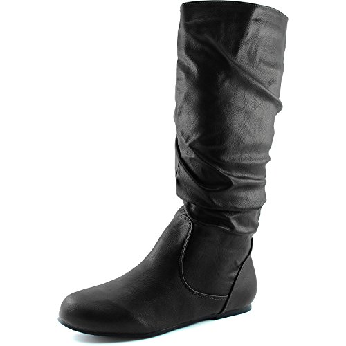 Dailyshoes Womens Mid Calf Zipper Slouch Suede Comfortable Boots