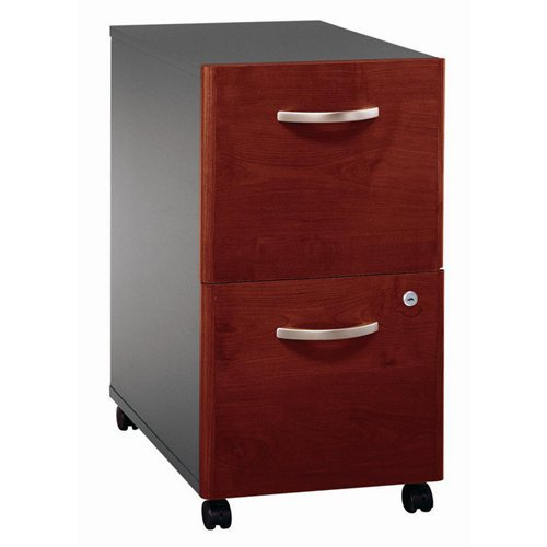 s C 2 Drawer Vertical Wood Mobile File Cabinet in Mahogany (Mahogany Vertical File Cabinet)