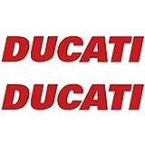 "Set of 2 6"" Ducati Tank Die Cut Vinyl Decal Sticker Panigale 1299 899 848 Corse EVO MONSTER S2R S4R Hypermotard Scrambler Diavel (15 cm (5.9""), Red)"