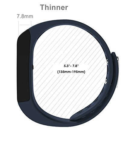 SinoPro i5 Plus Smart Bracelet Bluetooth Wristband Sport Wrist with Fitness Tracker Pedometer Calorie Health Sleep Monitor for iOS iPhone iPad Samsung Galaxy, Nexus, HTC and Other Smart Phones (Blue)