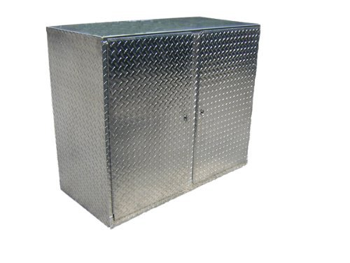 Commercial Address Only - Pit Posse 901 4' Diamond Plate 48'' Cabinet Base Aluminum Enclosed Race Trailer Shop Garage Storage Organizer by Pit Posse