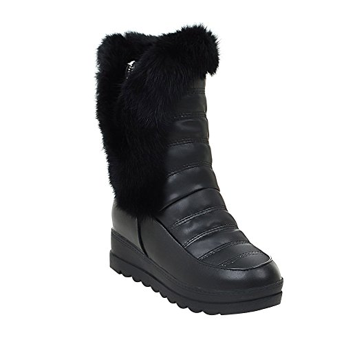 Eclimb Womens Fully Fur Lined Waterproof Winter Snow Boots Black 82txcM