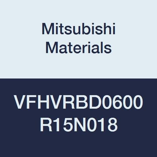 Mitsubishi Materials VFHVRBD0600R15N018 Series VFHVRB Carbide Impact Miracle End Mill, Short, Irregular Helix Flute (4), 6 mm Cut Dia, 1.5 mm Corner Radius, 9 mm LOC, 18 mm Neck Length 41RsC62BNajL