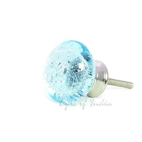 インドの目 – ガラスキャビネット食器棚ドレッサードアノブPulls Shabby Chic装飾カラフルなBohoボヘミアン ブルー DKN-BUB-LBLU-1 B014YBATQALight Blue #1