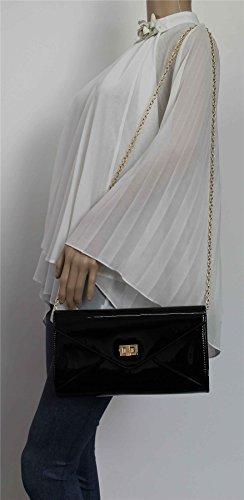 Clutch SwankySwans Patent Metallic Camilla Womens Black Izzx8Hqg