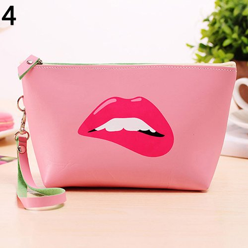 AchidistviQ Cute Cosmetic Makeup Bag Purse Toiletry Organizer Pouch Pencil Case Wallet