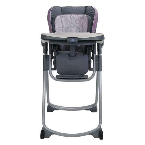 Graco Slim Spaces Compact Adjustable Baby Toddler Feeding Highchair Seat, Janey