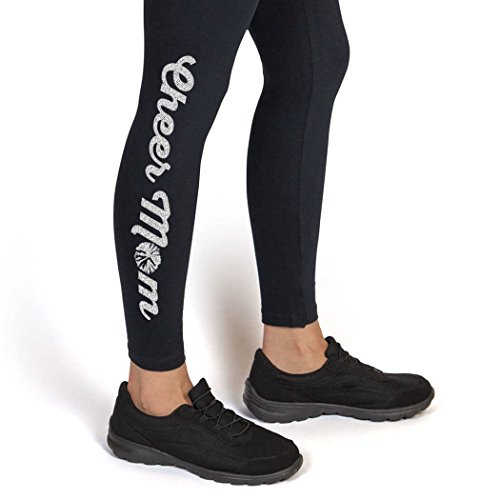 Cheer Mom Leggings | Cheerleading Leggings by ChalkTalk SPORTS | Adult Medium | Silver for $<!--$27.99-->