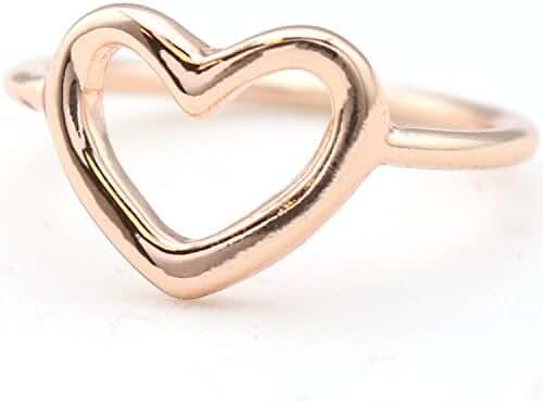 Open Heart Ring Rose Gold