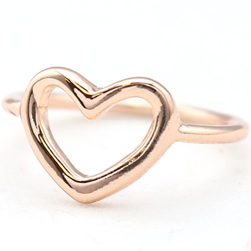 Gold Open Heart Ring (Open Heart Ring Rose Gold)