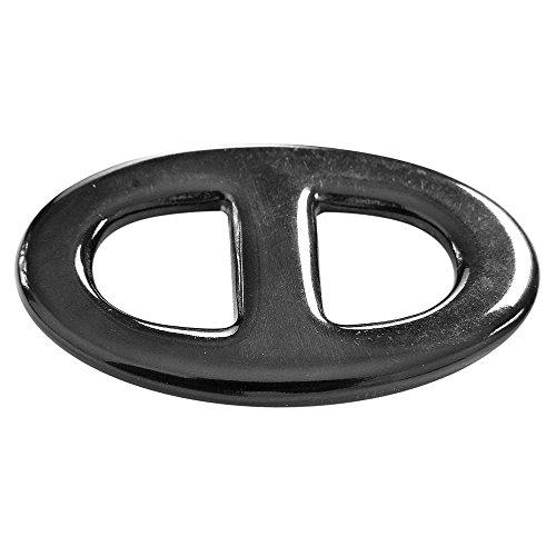 "MaryCrafts Buffalo Horn Scarf Ring Oval Scarf Slide 2.17""x1.3"""