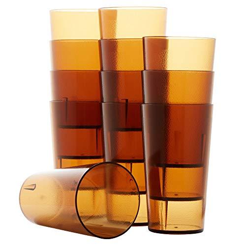 Restaurant Grade, BPA Free 12oz Dishwasher Safe, Break Resistant Drinking Glasses Are Reusable, Stackable Shatterproof…