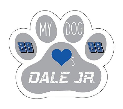 hardt Jr Dog Paw Magnet-My Dog Loves Dale Jr Magnet-NEW for 2016! ()