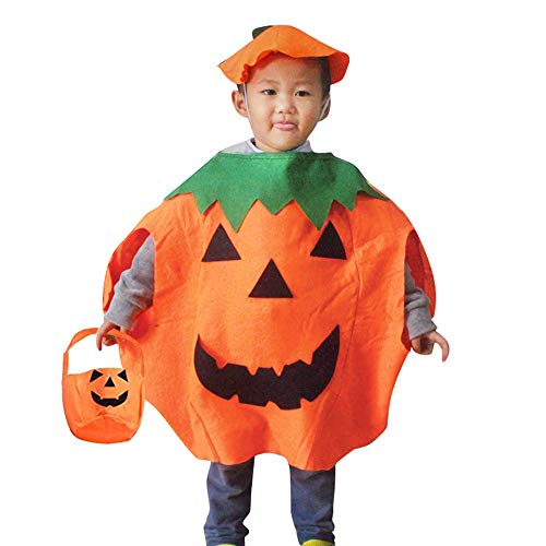 Halloween Cute Toddlers Costumes (QBSM Baby Halloween Pumpkin Costume Suit Party Clothing Cute Clothes Toddler Boys)