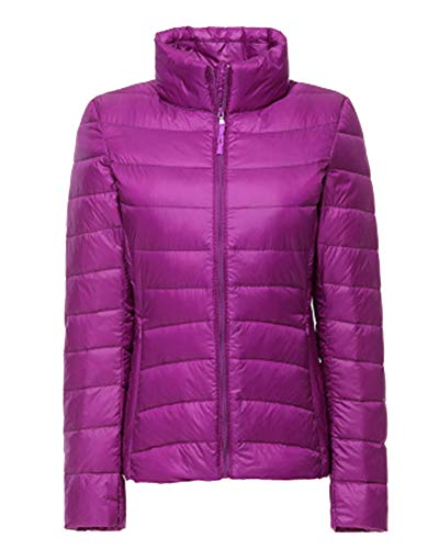 Light 2 Winter Down Short Packable Ultra Coat Jacket ZiXing Purple Lightweight Weight Women's Outdoor 6Hxn6OvI