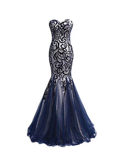 PromMe 2016 New Style Prom Dresses Mermaid Sweetheart Floor Length Tulle Size...