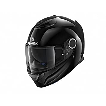 Shark Casco para moto Hark Spartan Blank, color negro, talla XS