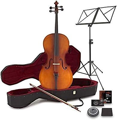 Violonchelo de 4/4 de Estudiante con Estuche + Paquete de Principiante Antique: Amazon.es: Instrumentos musicales
