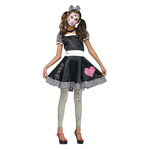 Scary Porcelain Doll Costumes Ideas - Fun World Girls' Little Broken Doll