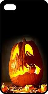 Halloween Jack O Lantern Black Plastic Case for Apple iPhone 5c