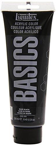Liquitex BASICS Acrylic Paint 8.45-oz tube, Mars Black (4385276)