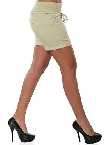 Beige Bermuda Yoga Sportivi Coulisse Sottile Estivi Hot Shorts Eleganti Con Estate Pantaloni Minetom Donna Pants Pantaloncini Magro Corti Sexy UpqqB
