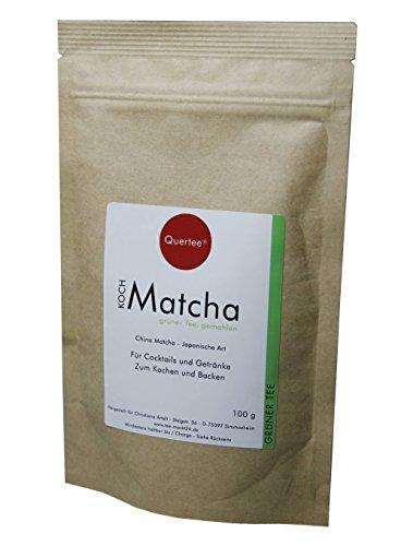Matcha Tee Pulver - 100 g im Zip-Beutel zum Kochen, Backen, Cocktails, Mixgetränke, usw.