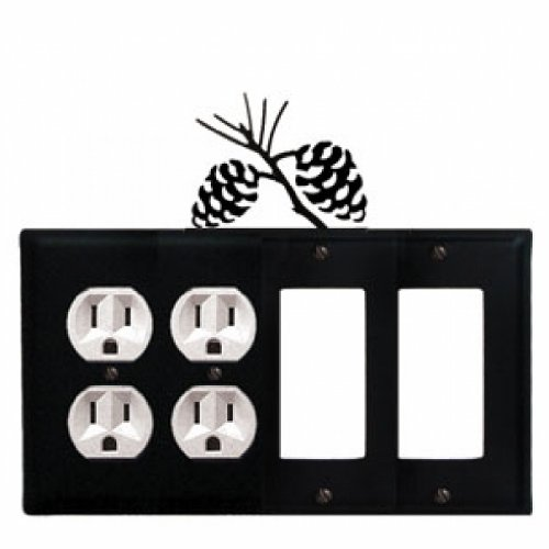 (Pinecone - Double Outlet and Double GFI Cover)
