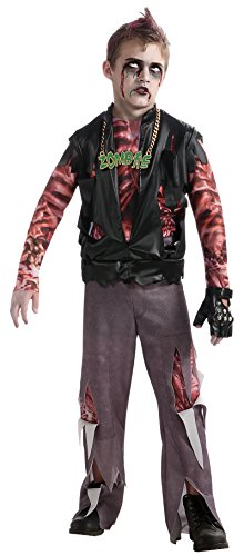Rock Zombie Costume (Boy's Zombie Punk Rocker #1 Costume, Medium)