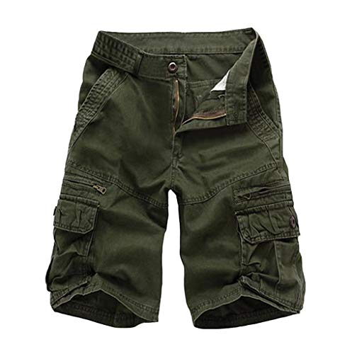 TOPUNDER Summer Fashion Mid-Rise Men's Shorts Loose Casual Multi-Pocket Tooling Pants