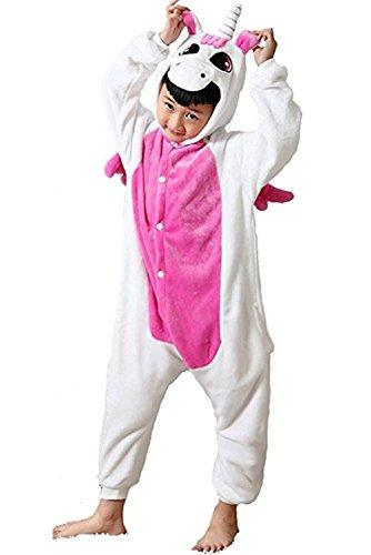 Pegasus Horse Costume (Gludear Unisex Children Unicorn Pyjamas Halloween Costume Kids Onesie Cosplay,Rose Pegasus)