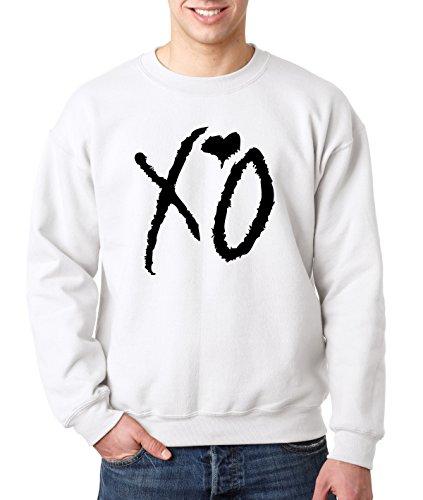 New Way 762 - Crewneck XO The Weeknd Heart Weekend Blackout Unisex Pullover Sweatshirt Large White