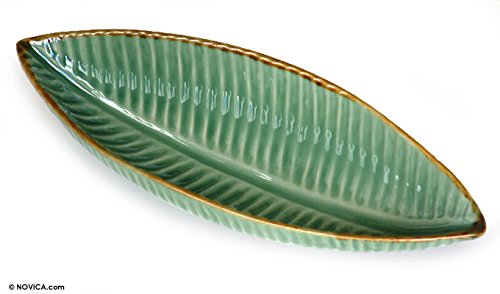 NOVICA 119177' Banana Ceramic Bowl