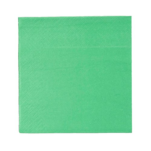 Cocktail Napkins - 200-Pack Disposable Paper Napkins, 2-Ply, Kelly Green, 5 x 5 Inches Folded by Blue Panda