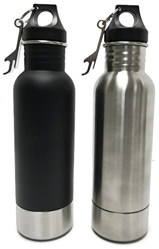 Craft Connections Stainless Steel Bottle Insulator with Opener – Pack of 2(Stainless Steel-Matte Black) (Guiness Gift Set)