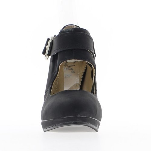 Escarpins femme noirs talon de 10 cm et mini plateforme