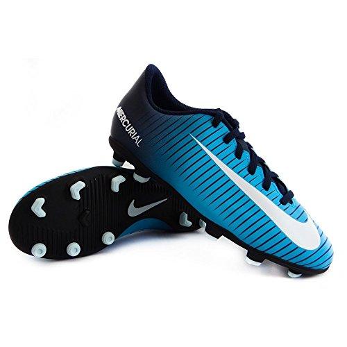 Nike Unisex-Kinder Jr Mercurial Vortex III FG Fußballschuhe Blau (Obsidian/Gamma Blue/Gamma Blue/White 404)