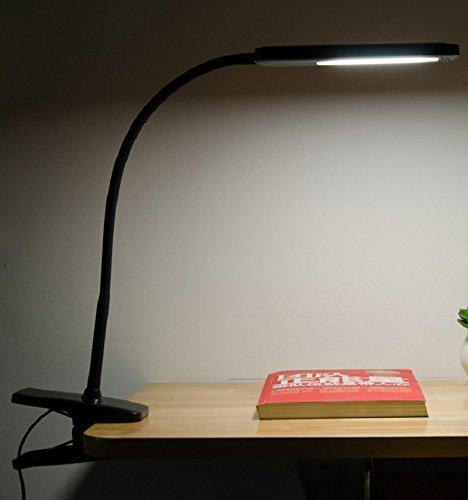 [해외]SuwaSWE 블랙 책상 램프 클램프 아이 케어 LED가 침대, 벡, 음악 스탠드, 무료 USB 어댑터와 컴퓨터 5W, 플렉시블 수지 구즈넥, Flic에 대한 읽기 조명/SuwaSWE Black Desk Lamp Clamp Eye Care LED Reading Light For Bed, Beck, Music Stand, Comp...