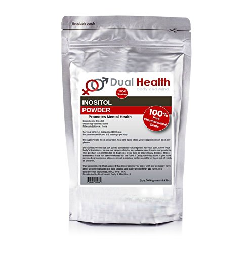 Pure Inositol Powder (2000 grams (4.4 lbs)) Bulk Supplements by Dual Health Body & Mind