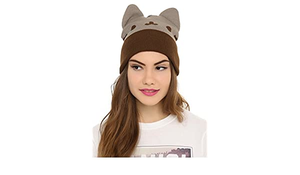 8e27c1230da Hot Topic Pusheen The Cat Watchman Beanie  Amazon.ca  Clothing   Accessories