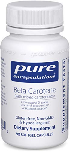 Pure Encapsulations – Beta Carotene with Mixed Carotenoids – Hypoallergenic Antioxidant and Vitamin A Precursor Supplement – 90 Softgel Capsules