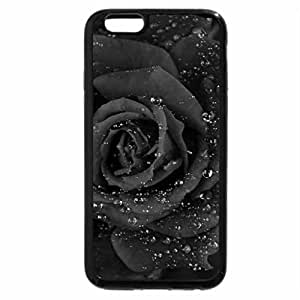 iPhone 6S Case, iPhone 6 Case (Black & White) - Red Rose