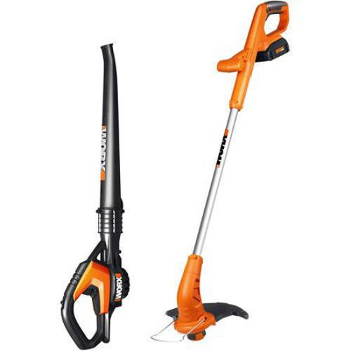 Wg919 Worx 20V Lithium 2 In 1 Grass Trimmer   Blower Combo