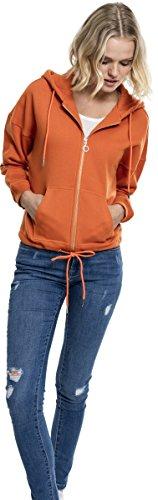 Urban Felpa Kimono rust Classics Orange Donna Hoody Ladies Zip 1150 OxwO8Zrq